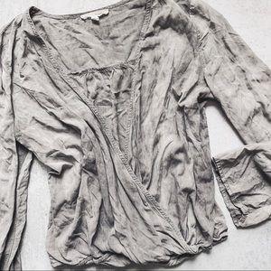 HONEY PUNCH • wrap top criss cross long sleeve